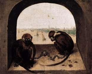 Две прикованные обезьянки — Питер Брейгель Старший