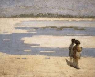 Two Children on the Beach — Теофрастос Триантафиллидис