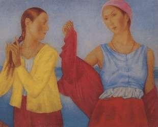 Две девушки — Кузьма Петров-Водкин