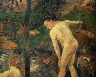 Две девочки купаются — Поль Гоген