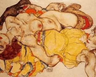 Two Girls Lying Entwined — Эгон Шиле