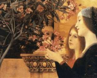 Two Girls With An Oleander — Густав Климт