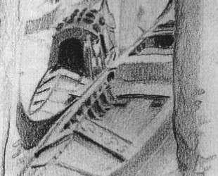 Two gondolas on the quay — Михаил Врубель