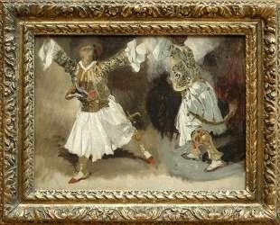 Танец греческих воинов — Эжен Делакруа