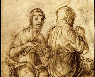 Two holy women in prayer — Андреа Мантенья