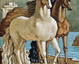 Две лошади наозере — Джорджо де Кирико