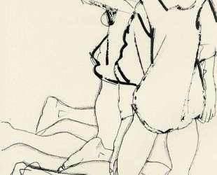 Two Kneeling Figures (Parallelogram) — Эгон Шиле