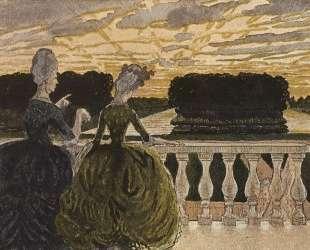 Две дамы на террасе — Константин Сомов