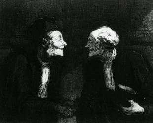 Два юриста пожимают руки — Оноре Домье