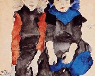 Two Little Girls — Эгон Шиле