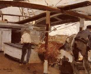 Two Men On A Deck — Хоакин Соролья