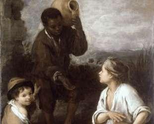 Two Peasant Boys and a Negro Boy — Бартоломе Эстебан Мурильо