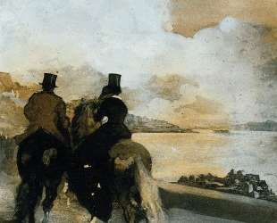 Два всадника на озере — Эдгар Дега