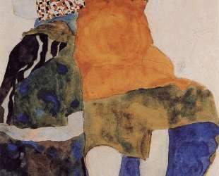 Two Seated Girls — Эгон Шиле