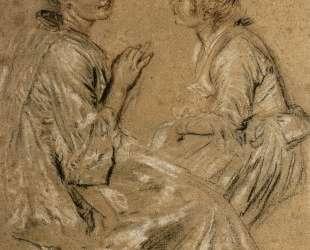 Two Seated Women — Антуан Ватто