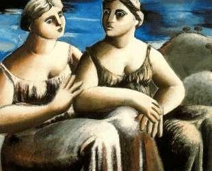 Two seated women — Рафаэль Забалета