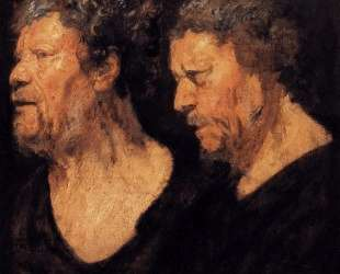 Two studies of the head of Abraham Grapheus — Якоб Йорданс