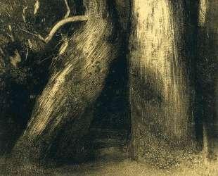 Two trees — Одилон Редон