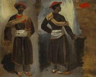 Два ракурса стоящего индийца из Калькутты — Эжен Делакруа