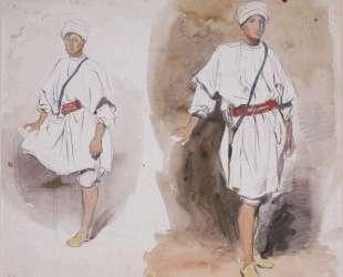Два ракурса молодого араба — Эжен Делакруа
