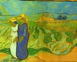 Two Women Crossing the Fields — Винсент Ван Гог