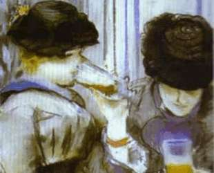 Two women drinking bocks — Эдуард Мане