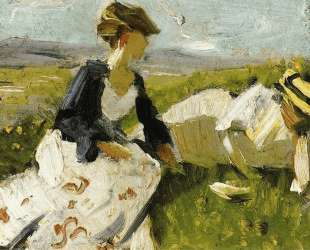 Two Women on the Hillside — Франц Марк