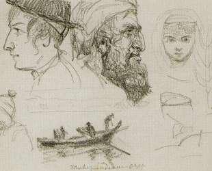 Типажи людей на Тивериадском озере — Василий Поленов