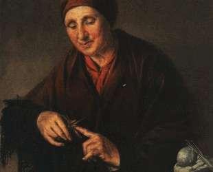 Украинка в намитке — Василий Тропинин