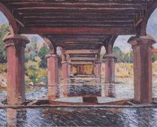 Under the bridge at Hampton Court — Альфред Сислей