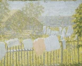 Белье на заборе — Казимир Малевич