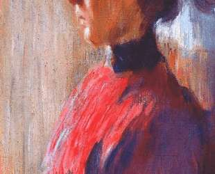 Unknown woman in red — Мстислав Добужинский