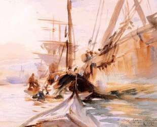 Unloading Boats in Venice — Джон Сингер Сарджент