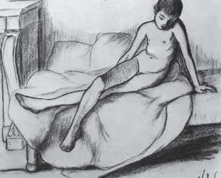 Utrillo Nude Sitting on a Couch — Сюзанна Валадон
