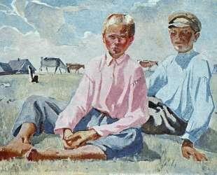 Отдыхающие дети — Александр Дейнека