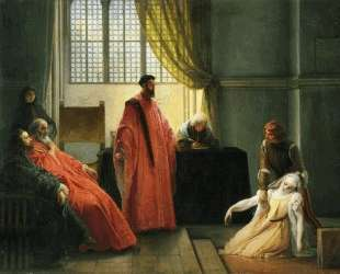 Valenza Gradenigo before the Inquisitor — Франческо Хайес