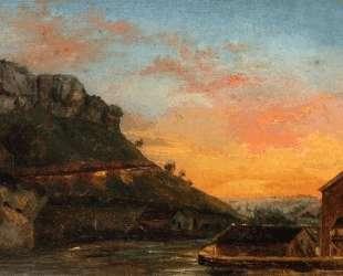 Долина реки Лу — Гюстав Курбе