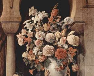 Vase of Flowers on the Window of a Harem — Франческо Хайес