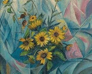 Ваза с цветами — Давид Бурлюк