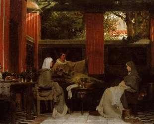 Венанций Фортунат, читающий свои поэмы Радагонде VI — Лоуренс Альма-Тадема
