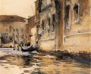 Venetian Canal, Palazzo Corner — Джон Сингер Сарджент