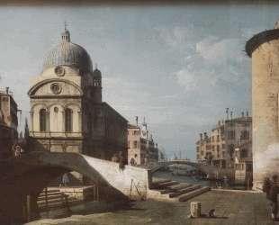 Venetian Capriccio, View of Santa Maria dei Miracoli — Бернардо Беллотто