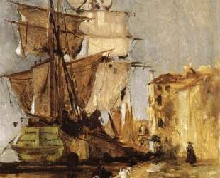 Venetian Sailing Vessel — Джон Генри Твахтман (Tуоктмен)