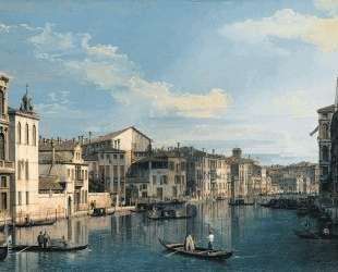 Venice: The Grand Canal from Palazzo Flangini to the Church of San Marcuola — Каналетто