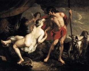 Венера и Адонис — Николя Пуссен