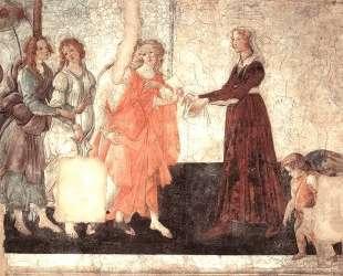 Венера и Грации предлагают дары девушке — Сандро Ботичелли