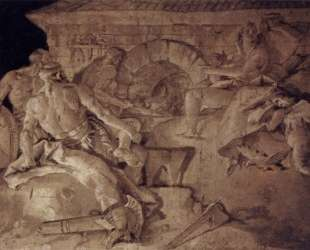 Venus asks Vulcan to forge an armor for Aeneas — Джованни Баттиста Тьеполо