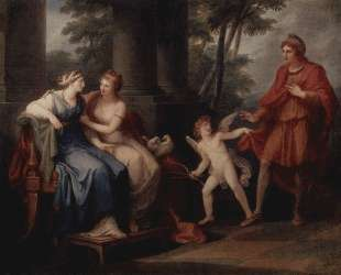Venus convinces Helen to hear Paris — Ангелика Кауфман