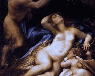 Венера, Сатир и Купидон — Корреджо