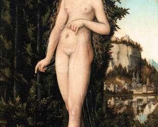 Венера, стоящая в пейзаже — Лукас Кранах Старший